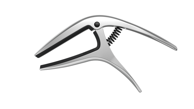 Ernie Ball P09600 Black Axis Capo for Acousitc Guitar Curved or Flat Fretboards
