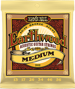 Pack of Medium Earthwood Bronze strings