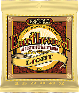 Pack of Light Earthwood Bronze strings