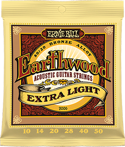 Pack of Extra Light Earthwood strings